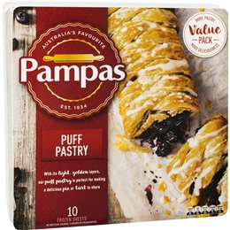 Pampas Ready Rolled Puff Pastry Sheets 1.6kg