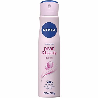 Nivea Pearl & Beauty Aerosol Antiperspirant Deodorant 250ml