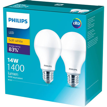Philips Led 1400lm Warm Es 2 pack