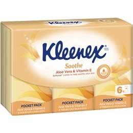 Kleenex Aloe Vera Facial Tissue 6 pack