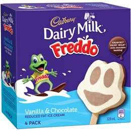 Cadbury Freddo Vanilla & Chocolate Ice Cream 4 pack