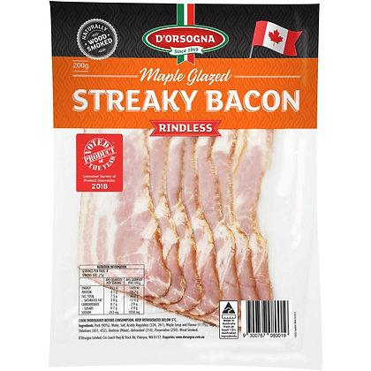 D'orsogna Maple Glazed Streaky Bacon 200g