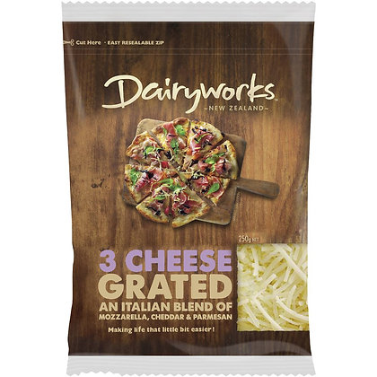 Dairyworks Grated 3 Cheese Mix 250g