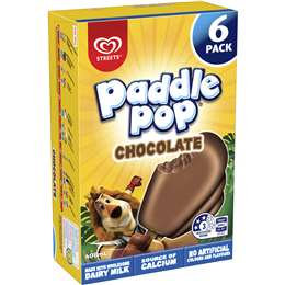 Streets Paddle Pop Chocolate 6 pack