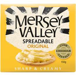Mersey Valley Original Spreadable Cheddar Cheese 150g