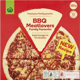 Frozen Pizza Bbq Meat Lovers 500g