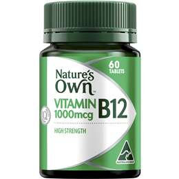 Nature's Own High Strength B12 1000mcg Tablets 60 pack