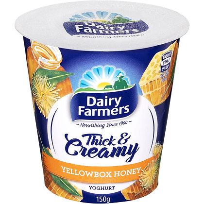 Dairy Farmers Thick & Creamy Yellow Box Honey Yoghurt 150g