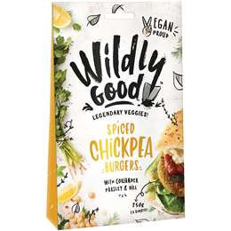 Wildly Good Spiced Chickpea Burgers 250g