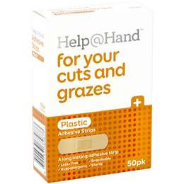 Help At Hand Plastic Strip Latex Free 50 pack