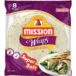 Mission Wraps Roasted Garlic 8 pack