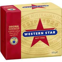 Western Star Original Butter Block 500g
