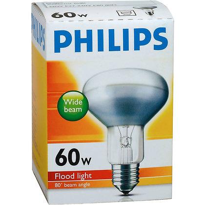 Philips Reflector R80 Globe 60w Es Base each