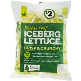 Woolworths Shredded Iceberg Lettuce 200g