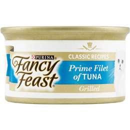 Fancy Feast Adult Cat Food Grilled Tuna Prime Fillet 85g