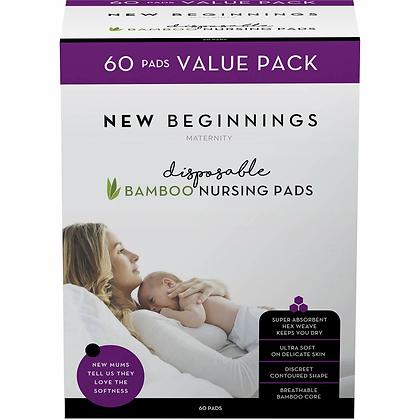 New Beginnings Disposable Bamboo Nursing Pads 60 pack