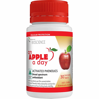 Renovatio An Apple A Day Activated Phenolics Antioxidants 30 tablets