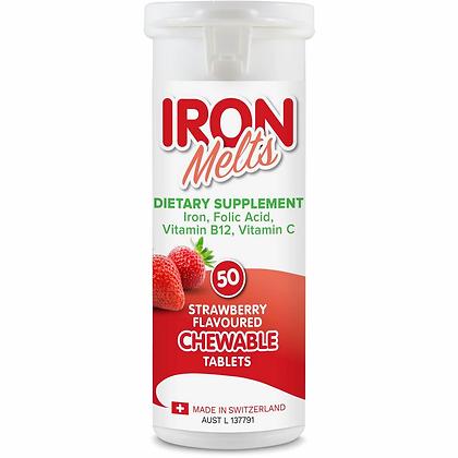 Iron Melts Chewable Tablet 50pk