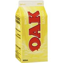 Oak Banana Flavoured Milk 600ml