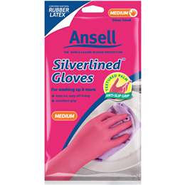 Ansell Gloves Silverlined Medium Size 8 1 pair