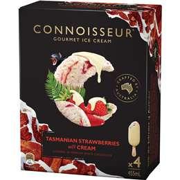 Connoisseur Strawberries & Cream Ice Cream 4 pack