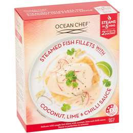 Ocean Chef Steamed Fish Fillets Coconut Chilli & Lime 350g