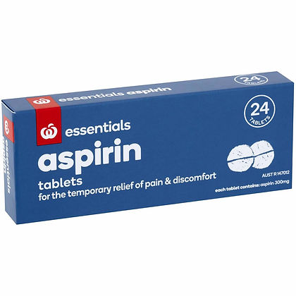 Essentials Aspirin 300mg Tablets 24 pack