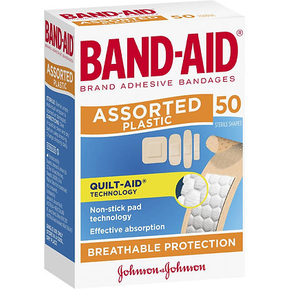 Band-aid Plastic Strips Assorted 50 pack
