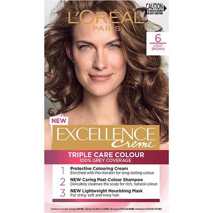 L'oreal Excellence Creme Hair Colour 6 Light Brown each