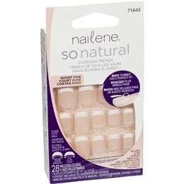 Nailene So Natural Nail Short Pink 28 pack