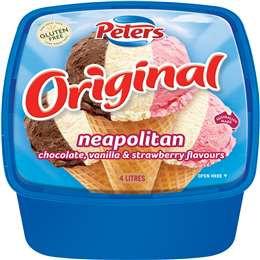 Peters Original Ice Cream Neapolitan 4l
