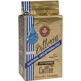 Vittoria Decaffeinated Ground Coffee Espresso 200g