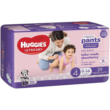 Huggies Nappy Pants Toddler Girl 29pk
