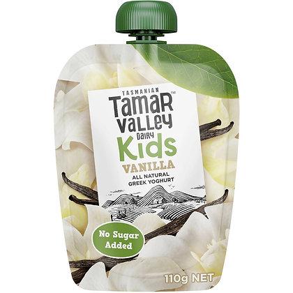 Tamar Valley Kids Yoghurt Pouch Vanilla 110g