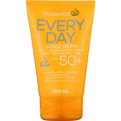Woolworths Sunscreen Everyday Tube Spf 50+ 100ml