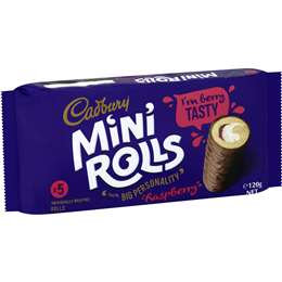 Cadbury Mini Rolls Raspberry 5 pack