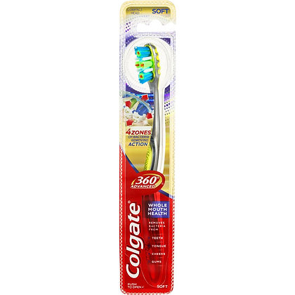 Colgate 360 Degrees Advanced Active Plaque Removal Toothbrush Soft each