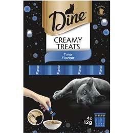Dine Creamy Treats Tuna Flavour Cat Treat 4 pack
