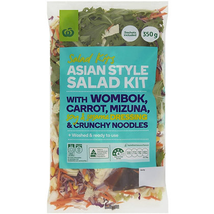 Woolworths Asian Style Salad Kit Salad Kit 350g