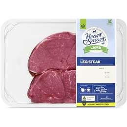 Lamb Leg Steak Heart Smart 250g - 450g