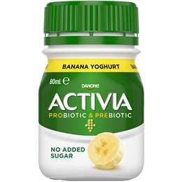 Danone Activia Shot Banana Yoghurt 80ml