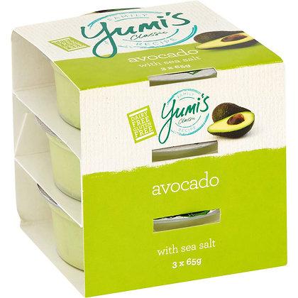 Yumi's Avocado With Sea Salt Dip 65g x3 pack