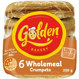 Golden Crumpets Round Wholemeal 6 pack
