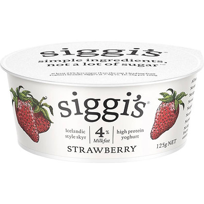 Siggi's 4% Milkfat Yoghurt Strawberry 125g