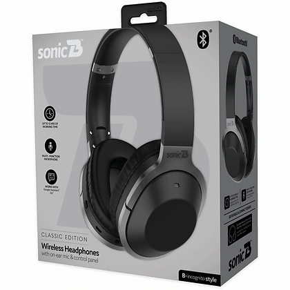 Sonic B Incognito Wireless Bluetooth Classic Headphones each