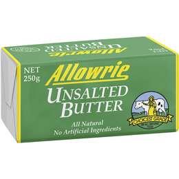 Allowrie Unsalted Butter 250g