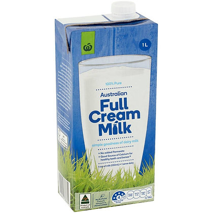 Woolworths Uht Full Cream Milk 1l