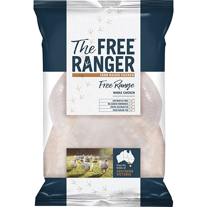 The Free Ranger Free Range Whole Chicken 1.3kg - 1.9kg