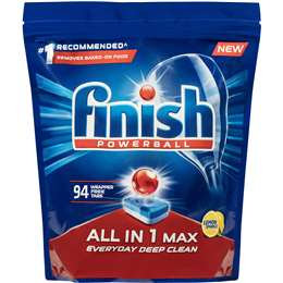 Finish Powerball All In 1 Max Dishwasher Tablets Lemon 94 pack