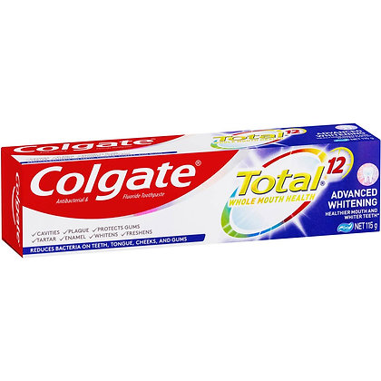 Colgate Total Advanced Whitening Antibacterial Toothpaste 115g